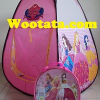 Tenda Anak Perempuan Gambar Princess Bentuk Kerucut