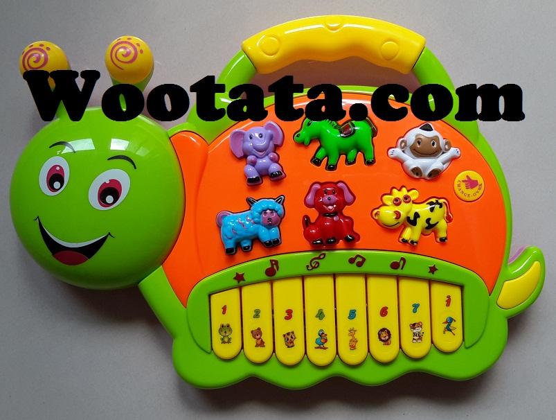 jual cute snail electronic organ set mainan musik bayi murah