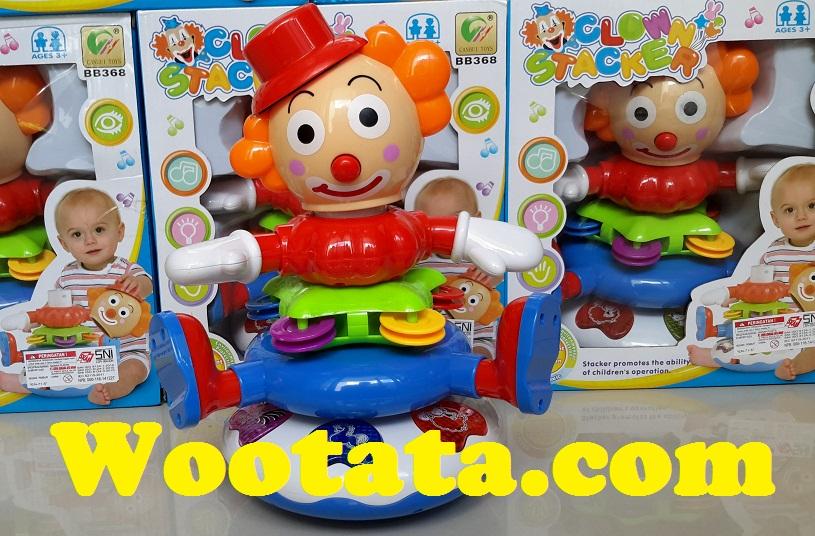 mainan edukasi bayi terbaru clown stacker