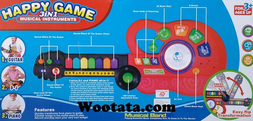 mainan musik anak 3 tahun happy game 3 in 1