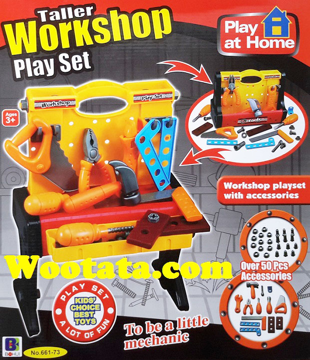 mainan tools anak-anak terbaru workshop play set