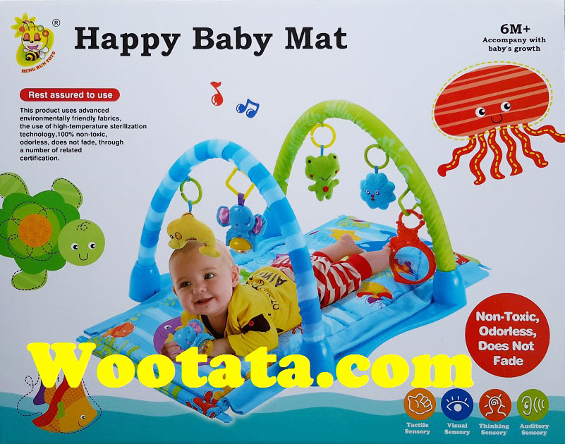 mainan yang cocok buat bayi 3 bulan happy baby mat