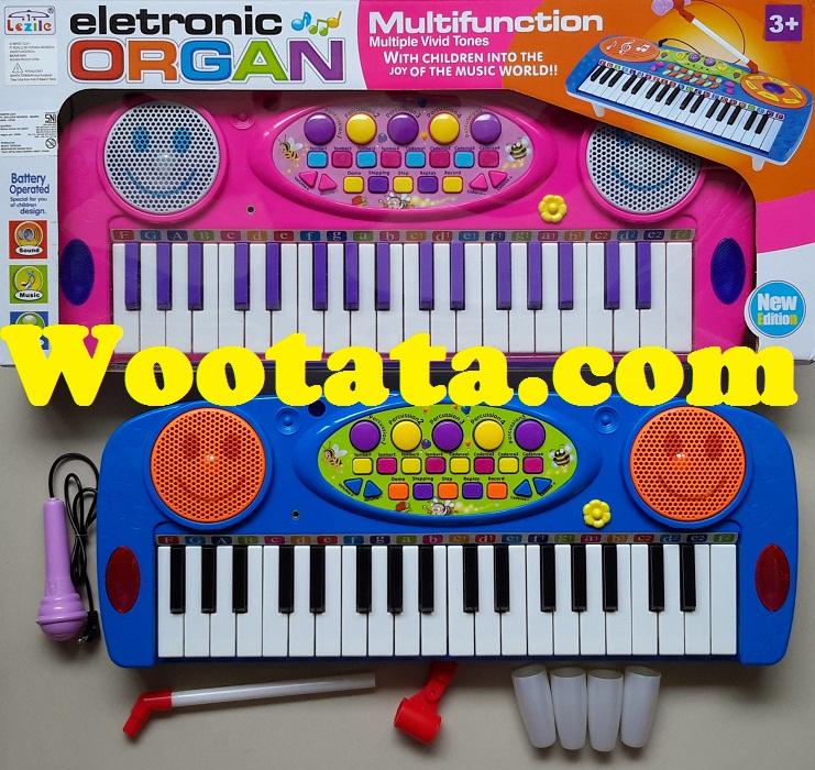 mainan organ untuk anak electronic organ pink
