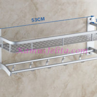 Rak Gantung Dinding Kamar Mandi Aluminium Serbaguna
